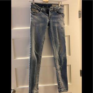 Diesel Women's Distressed Skinny Jeans Size 26